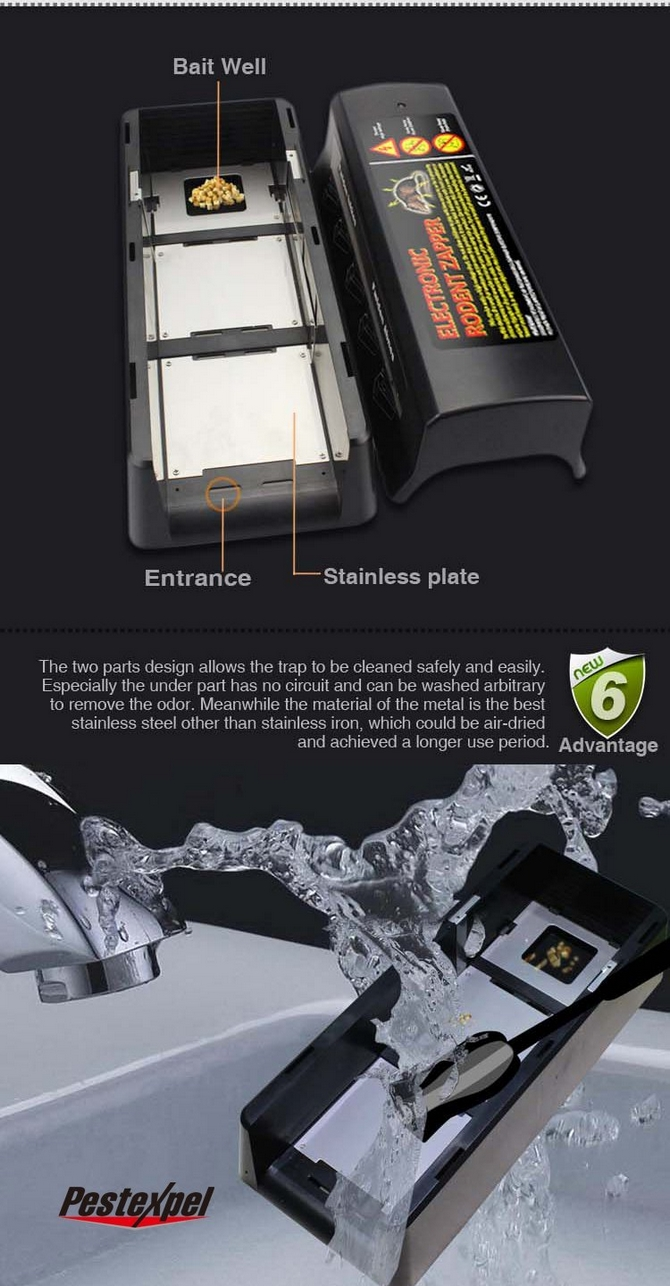 Electronic Rat Zapper Pest Control Mouse Trap Enlarge Image