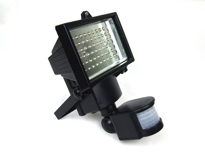 led solar powered outdoor light with motion sensor enlarge