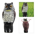 Realistic Owl Wind Action Fake Owl Decoy Crow Scarer